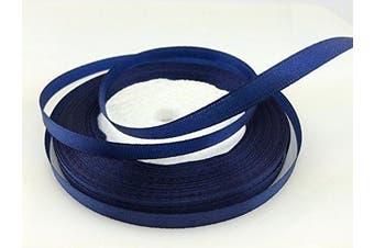 (dark blue) - Solid Colour Satin Ribbon 0.6cm ,25yds (dark blue)