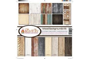 (Onе Paсk) - Reminisce EAV-800 Wood Backgrounds Collection Kit