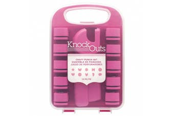 American Crafts 12 Piece Knock Outs Craft Punch Set