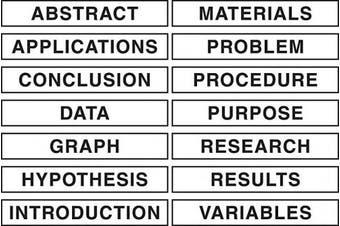 (WHITE) - Pacon Self-Adhesive Presentation Science Subtitles, 14 Titles, 2.5cm - 1.3cm x 20cm - 1.3cm (3764)