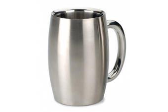 (440ml) - RSVP International Endurance Stainless Steel Double Walled Beer Mug, 440ml