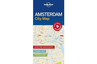 Lonely Planet Amsterdam City Map (Travel Guide)