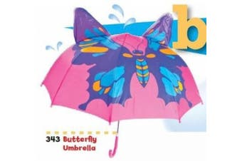 Kids Umbrella - Childrens 46cm Rainy Day Umbrella - Butterfly