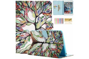 (06 Lucky Tree) - iPad Mini Case, Dteck(TM) Synthetic Leather Flip Wallet Case with [Auto Wake/Sleep Function] for Apple iPad Mini 1 2 3 with Cleaning Cloth & Stylus Pen (Lucky Tree, iPad Mini 1/2/3)
