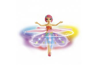 (rainbow,africanamerican) - Deluxe Light Up Flutterbye Fairy - Rainbow