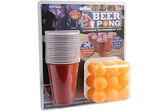 (1, Beer Pong) - PMS 36PC BEER PONG SET IN DOUBLE BLISTER CARD