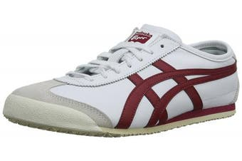 (4 UK, White (White/Burgundy 0125)) - Onitsuka Tiger Mexico 66, Unisex-Adults' Low-Top Trainers