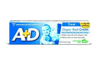 (120ml) - A+D Zinc Oxide Nappy Rash Treatment Cream, Dimenthicone 1%, Zinc Oxide 10%, Easy Spreading Baby Skin Care, 120ml Tube