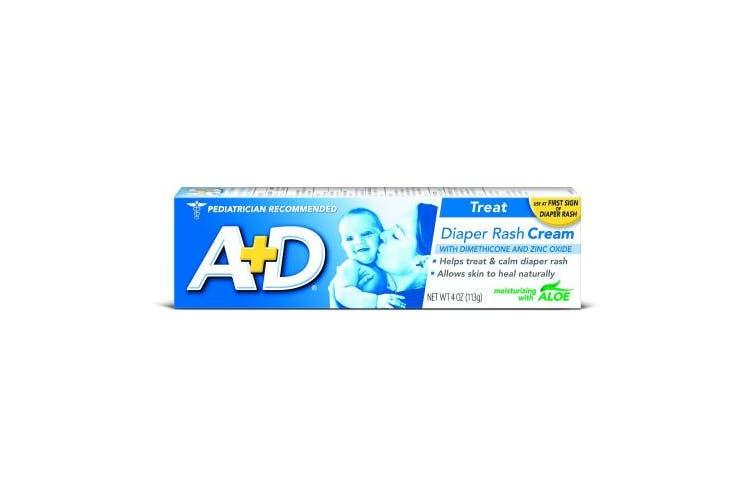 (120ml) - A+D Zinc Oxide Nappy Rash Treatment Cream, Dimenthicone 1%, Zinc Oxide 10%, Easy Spreading Baby Skin Care, 120ml Tube