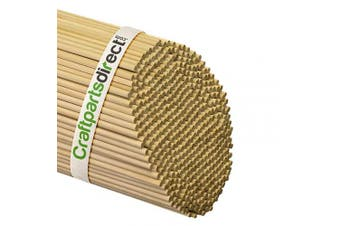 (Bag of 100) - Wooden Dowel Rods - 0.5cm x 90cm Unfinished Hardwood Sticks - For Crafts and DIY'ers - Craftparts Direct - Bag of 100