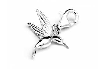 Genuine Silver hummingbird charm clip on charm ideal for Thomas Sabo bracelet or necklace