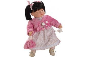 Berbesa 80401 Baby Chinita Doll Cries to Remove His Pacifier, 62 cm, Multi Colour