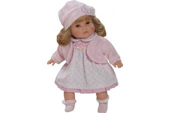Berbesa 4409R Sandra Talking and Laughing Doll with Mom and Dad, 40 cm, Multi Colour