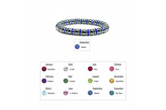 (09 - Sapphire) - Accents Kingdom Women's Magnetic Hematite Tuchi Simulated Pearl Bracelet