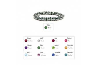 (05 - Emerald) - Accents Kingdom Women's Magnetic Hematite Tuchi Simulated Pearl Bracelet