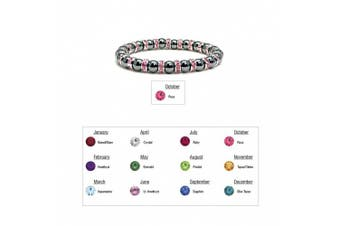 (10 - Rose / Pink Tourmaline) - Accents Kingdom Women's Magnetic Hematite Tuchi Simulated Pearl Bracelet
