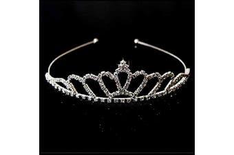 (Fan-Shape) - AshopZ Women's Rhinestone Wedding Bridal Party Birthday Crown Tiara Fan-Shape