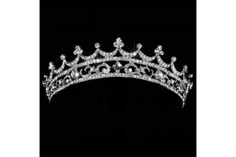 (Korea Palace) - AshopZ Women's Rhinestone Wedding Bridal Party Birthday Crown Tiara Korea Palace