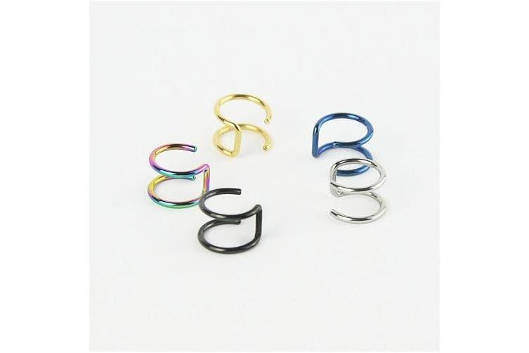 Honbay 5pcs Piercing Women Girls Men 16g Stainless Steel Non