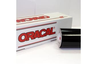 (60cm  x 3m, Black) - 60cm x 3m Roll of Glossy Oracal 651 Black Vinyl for Craft Cutters and Vinyl Sign Cutters