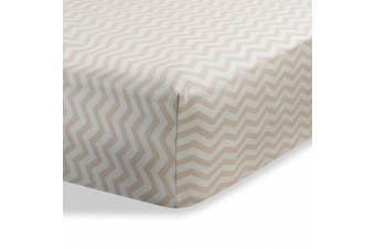(Beige Zigzag) - Bassinet sheets cradle sheets Abstract bassinet sheets cradle sheets for Baby / Infant Deep Fitted Soft Jersey Knit by Abstract 41cm x 80cm (Beige Zigzag)