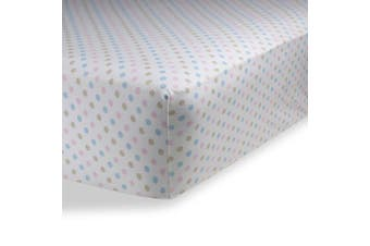 (70cm  x 130cm  (STANDARD CRIB), Polka Dot Multi Color) - Crib Sheets / Crib Sheets Boys / Crib Sheets Girls for Baby - Infant - Toddler Deep Fitted Soft Jersey Knit by Abstract (70cm X 130cm (STANDARD CRIB), Polka Dot Multi Colour)