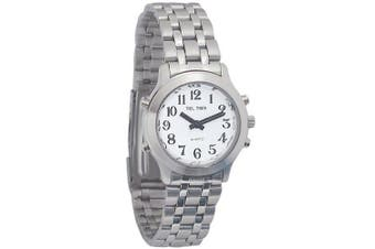 Ladies Classic Tel-Time Chrome Talking Watch - Chrome