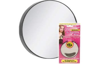 MAGNIFYING EYE MAKE UP MIRROR WITH SUCTION CUPS 15X MAGNIFICATION