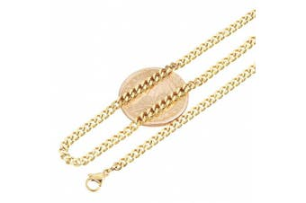 (22.0 inches) - Aplstar 18ct Gold Necklace 3.5mm thick Curb Chain Size: 16 18 20 22 24 30 inch/40 45 50 55 60 75cm