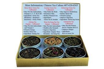 Tea Sampler - Green Tea - Oolong Tea - Wuyi Tea - Da Hong Pao Tea - Berry Tea - DaJeeLing Tea - Jasmine Green Tea - Genmaicha Tea - Rice Tea - Tea - Loose Leaf Tea
