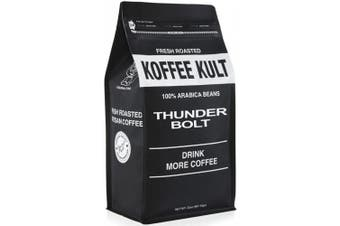 (whole bean, 950ml) - Thunder Bolt Whole Bean Coffee 0.9kg French Roast Colombian Freshly Roasted Restaurant Quality Gourmet Coffee - Ideal for French Press, Drip Coffee from Koffee Kult