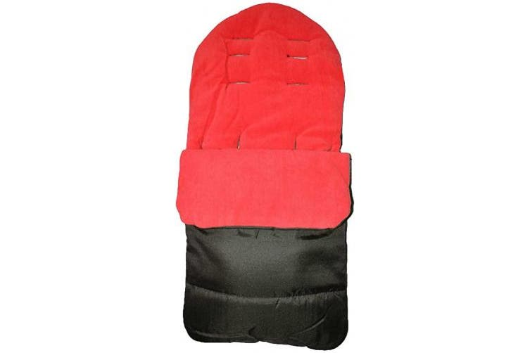 (Fire Red) - Universal Baby Stroller Cosy Toes Liner Buggy Padded Luxury Footmuff (Fire Red)