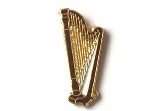 Wales Welsh Harp Gold Plated Small Enamel Lapel Pin Badge (T708)