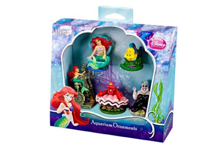 Penn Plax Little Mermaid 5-Piece Mini Resin Ornaments for Aquariums