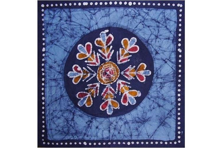 Batik Cotton Table Napkin 46cm x 46cm Blue