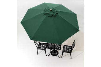 3m 8 Rib Umbrella Replacement Cover Canopy Patio Outdoor Market Deck Yard Top Green