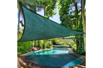 3.5m Triangle Sun Shade Sail Patio Deck Beach Garden Yard Outdoor Canopy Cover Uv Blocking Green