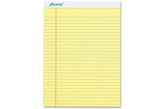 DOZEN: Ampad Perforated Pad, Size 8-1/2 x 11-3/4, Canary Yellow Paper , Legal Ruling, 50 Sheets per Pad (20-260)