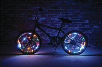 (Multicolored) - Wheel Brightz LED Bicycle Safety Light Lightweight Accessory (Multi Colour)