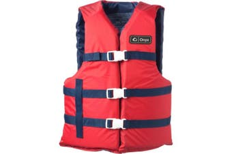 (Adult Universal, Red) - Onyx General Purpose Boating Vest