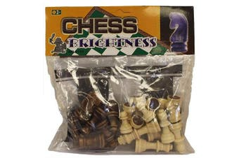 (Just Chess Pieces - Small Wood) - Just Chess Pieces - Small Wood