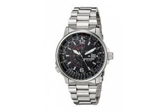 Citizen Eco-Drive Nighthawk Flight Mens Stainless Steel Watch BJ7000-52E