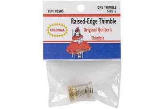 (Size 5) - Colonial Needle SST-5 Raised Edge Thimble, Size 5