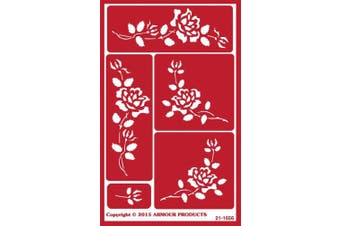 (Roses) - Over 'N' Over Reusable Stencils 13cm x 20cm -Roses