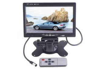 Lychee 18cm TFT Colour LCD Car Rear View Camera Monitor Support Rotating The Screen and 2 AV Inputs with an IR remote controller