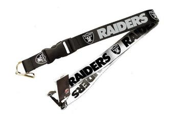 NFL Oakland Raiders Team Logo Reversible Lanyard Keychain