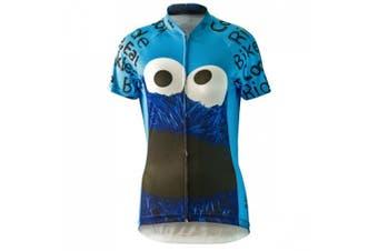 (m) - Brainstorm Gear 2015 Women's Cookie Monster Cycling Jersey - SSCM-W (Sky Blue - 2XL)