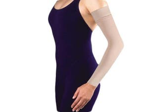 (4, Natural) - BSN Medical/Jobst 102414 Bella Strong and Gauntlet Armsleeve with Silicone Band, 30-40 mmHg, Natural, Regular, Size 4