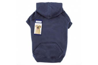 (X-Large, Navy) - Casual Canine Basic Hoodie Dog Apparel ZA6015