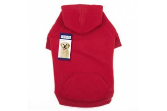 (l, Red) - Casual Canine Basic Hoodie Dog Apparel ZA6015